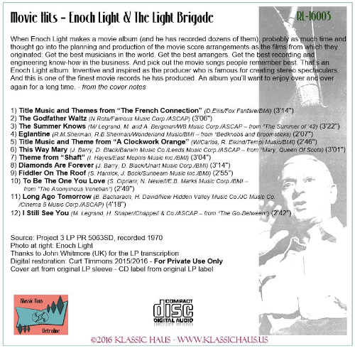 First Additional product image for - Movie Hits – Enoch Light & The Light Brigade