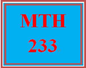 MTH 233 Week 4 DQ 4 | eBooks | Education