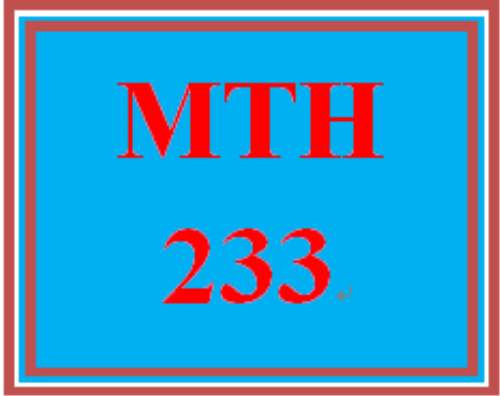 First Additional product image for - MTH 233 Week 1 DQ 1