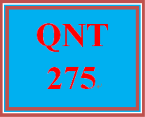 First Additional product image for - QNT 275 Week 2 Learning Team Collaborative Discussion: Descriptive Statistics