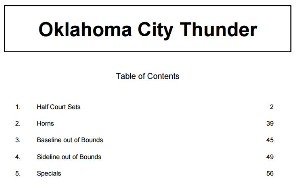 billy donovan oklahoma city thunder basketball playbook