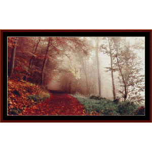 Through the Autumn Forest - Photograph cross stitch pattern by Cross Stitch Collectibles | Crafting | Cross-Stitch | Other