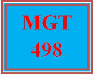 MGT 498 Week 5 Learning Team Weekly Reflection | eBooks | Education