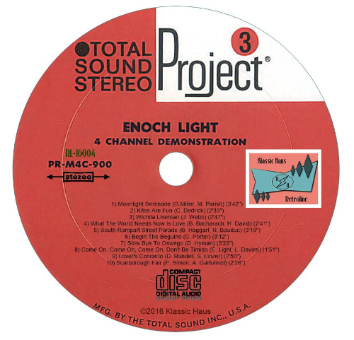 Second Additional product image for - 4-Channel Stereo - Enoch Light & The Light Brigade