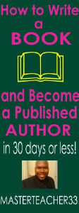 how to write a book and become a published author