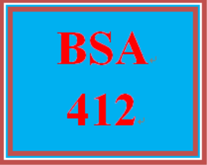 BSA 412 Week 4 Individual: Decision Table | eBooks | Education