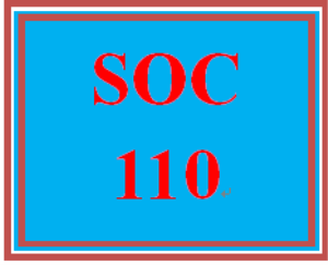 SOC 110 Week 2 Creating an Agenda | eBooks | Education