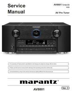 marantz av8801 pre-amplifier service manual