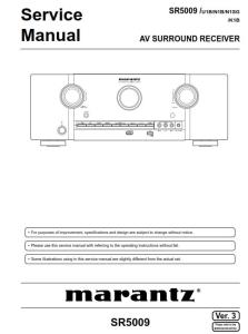 marantz sr5009 receiver service manual