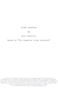 linda lovelace script