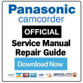 panasonic hc-w850 w858 w850m camcorder service manual