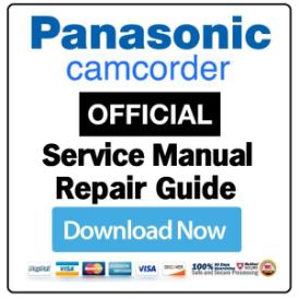 Panasonic SDR-S100 Camcorder Service Manual | eBooks | Technical