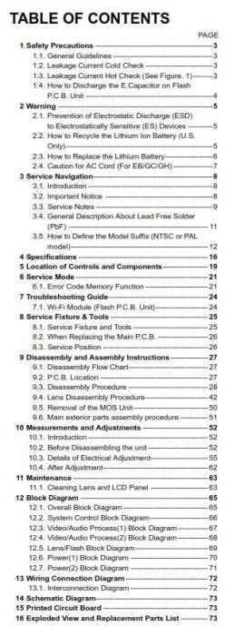 First Additional product image for - Panasonic Lumix DMC FZ300 FZ330 Digital Camera Service Manual