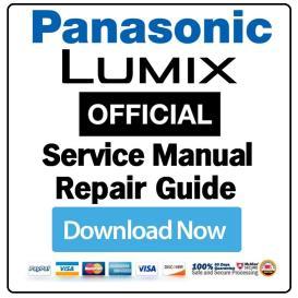 panasonic lumix dmc-sz1 sz02 digital camera service manual