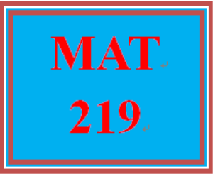 MAT 219 Week 3 participation Comparing methods | eBooks | Education
