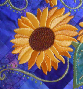 Laura's Summer's Gold Sunflower Collection PES   Crafting   Embroidery