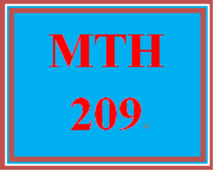 MTH 209 All Participations | eBooks | Education