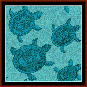 Abstract Turtles cross stitch pattern by Cross Stitch Collectibles | Crafting | Cross-Stitch | Other