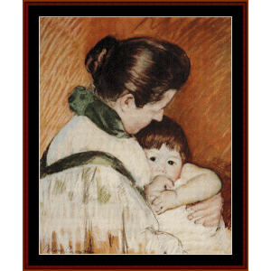 Thomas Sucking His Thumb - Cassatt cross stitch pattern by Cross Stitch Collectibles | Crafting | Cross-Stitch | Wall Hangings