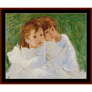 The Sisters - Cassatt cross stitch pattern by Cross Stitch Collectibles | Crafting | Cross-Stitch | Wall Hangings