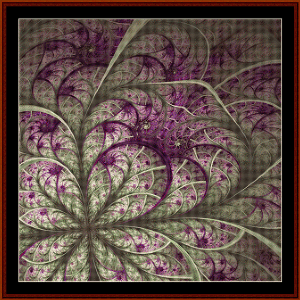 fractal 576 cross stitch pattern by coss stitch collectibles