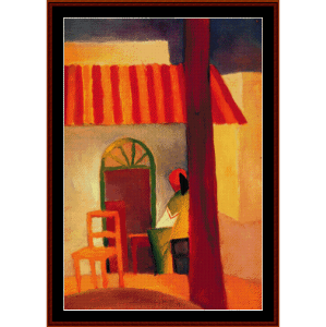 turkish cafe - macke cross stitch pattern by cross stitch collectibles