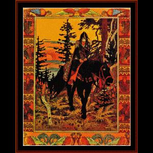 The Black Knight - Bilbin cross stitch pattern by Cross Stitch Collectibles | Crafting | Cross-Stitch | Wall Hangings