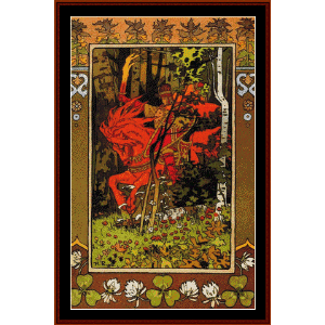 the red knight - bilbin cross stitch pattern by cross stitch collectibles