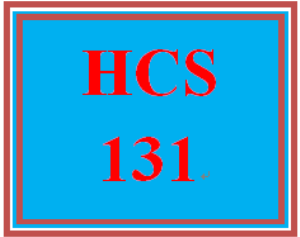 HCS 131 Week 2 participation Week Two Weekly Overview | eBooks | Education