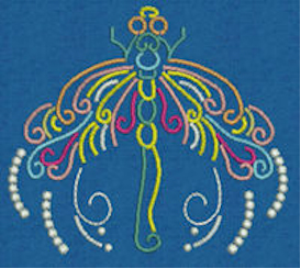 Laura's Neon Dragonflies Collection PES | Crafting | Embroidery