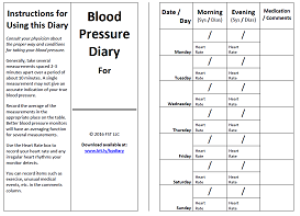 Blood Pressure Diary | Documents and Forms | Other Forms