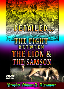 detailed… the fight between the lion and the samson