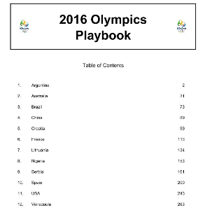 2016 Rio Olympics Basketball Playbook | eBooks | Sports