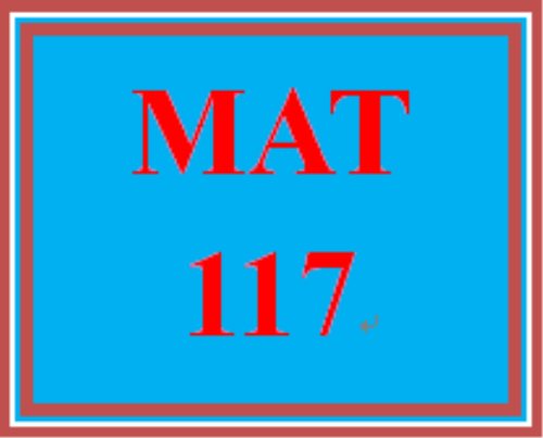 First Additional product image for - MAT 117 Week 1 MyMathLab Study Plan for Week 1 Checkpoint