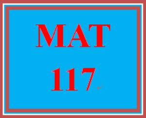MAT 117 Week 2 Checkpoint | eBooks | Education