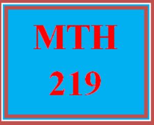 MTH 219 Week 4 MyMathLab® Week 4 Checkpoint | eBooks | Education