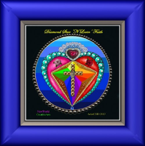 diamond-star heart of love life light