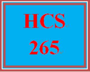HCS 265 Week 3 Role Summary | eBooks | Education