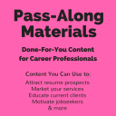 Developing Your Personal/Professional Development Plan Pass-Along Materials | Documents and Forms | Resumes