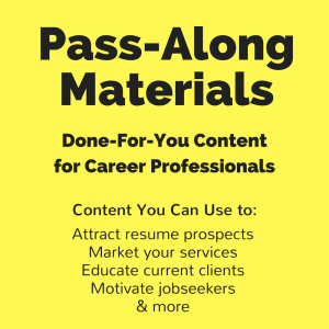 job search letters - - pass-along materials