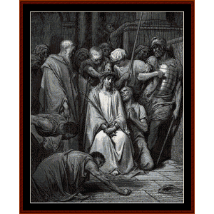the crown of thorns - gustave dore cross stitch pattern by cross stitch collectibles