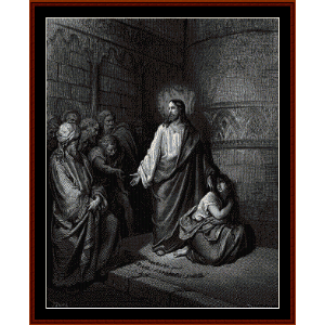 Jesus and the Adulteress - Gustave Dore cross stitch pattern by Cross Stitch Collectibles | Crafting | Cross-Stitch | Religious