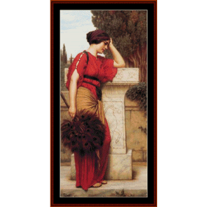La Pensierosa - Godward cross stitch pattern by Cross Stitch Collectibles | Crafting | Cross-Stitch | Wall Hangings