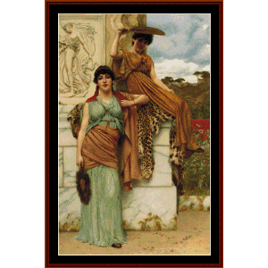 waiting for the procession - godward cross stitch pattern by cross stitch collectibles