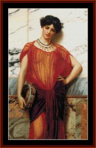 drusilla - godward cross stitch pattern by cross stitch collectibles