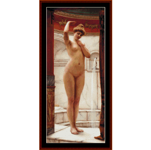 A Pompeiian Bath - Godward cross stitch pattern by Cross Stitch Collectibles | Crafting | Cross-Stitch | Wall Hangings