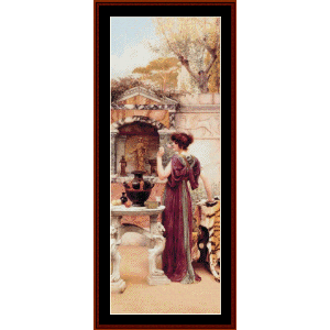 At the Garden Shrine, Pompeii - Godward cross stitch pattern by Cross Stitch Collectibles | Crafting | Cross-Stitch | Wall Hangings