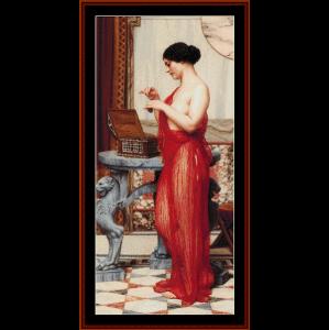 the new perfume - godward cross stitch pattern by cross stitch collectibles
