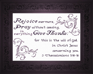 Rejoice Evermore | Crafting | Cross-Stitch | Religious