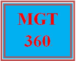 mgt 360 week 5 sustainable strategies
